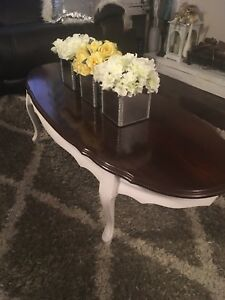 Beautiful Antique French Provincial Shabby Chic Coffee Table