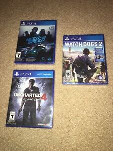 PS4 - Watchdogs 2 / Need for Speed / Uncharted 4