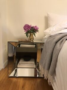 Mirrored bedside table or coffee table