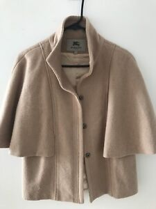 Authentic Burberry Wool Cape Camel Puncho
