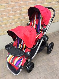 Double city select stroller with glider board