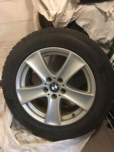 BMW X5 X6 original rims mags with winter tires