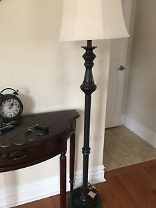 Night stand and tall lamp set