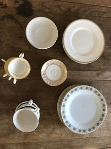 Fine bone China - plates, cups and saucers