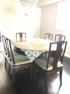 Dining set for sale!  Includes dining & buffet table & 8 chairs