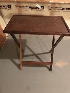 Wicker TV Table