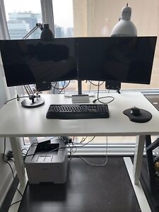 2 Dell monitors (1080 high def) + arms and brackets