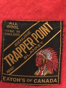 Genuine Trapper Point Blanker 100% all wool