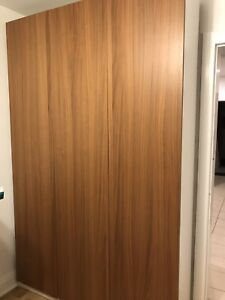 IKEA Pax Wardrobes - Walnut Doors