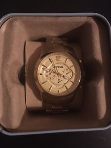 Gold Fossil Watch For Sale