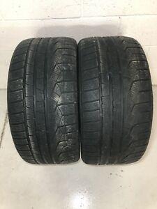 255/35/19 Pair Pirelli Sotto Zero Winter Tires 90%
