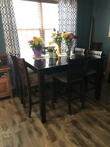 Pub Height dining table with 7 chairs