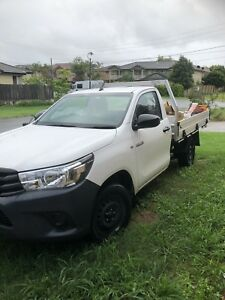Rubbish removal a man and a Ute