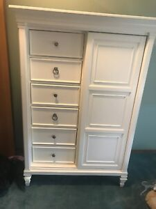 White wood wardrobe