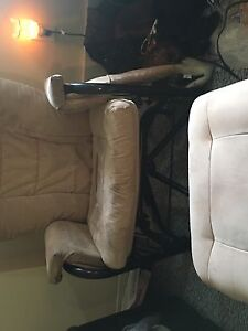 Rocking chair with gliding foot stool