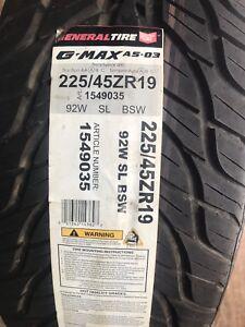 225/45-19 new General G-Max  tires