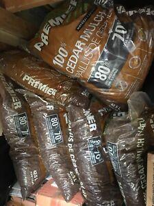 6 Brown Mulch Bags