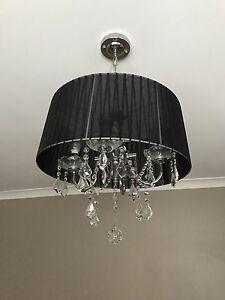 Vintage black shade chandelier Cringila Wollongong Area Preview