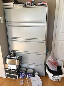 Large Grey Filing Cabinet