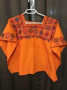 Guatemalan embroidered blouses and scarf