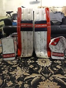 Bauer Reactor 6000 Pro Goalie Pads and Gloves