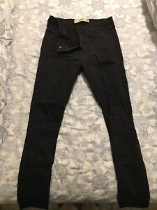 Hollister black jean leggings size 6