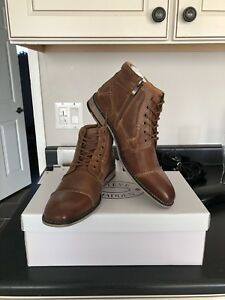 Steve Madden - Karrin Cap Toe leather boots (Dark Tan)