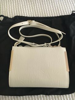 New White and Gold Collette Handbag