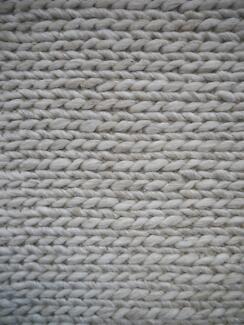New Large Ishka Beige Wool Viscose Blend Braid Rugs MOS Rug