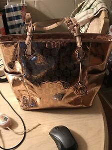 Michael Kors Metallic Monogram Tote