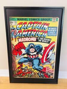 Captain America Poster Frame Art