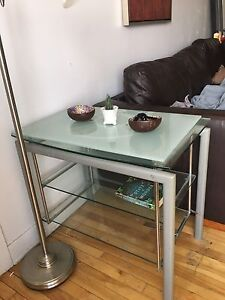 Glass table - perfect for TV stand  or console