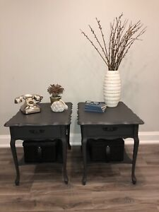 French provincial solid wood end tables side tables