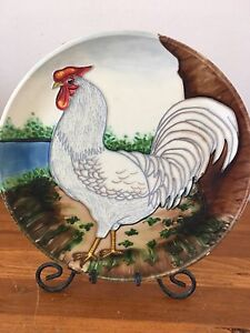 Decorative Rooster Plate
