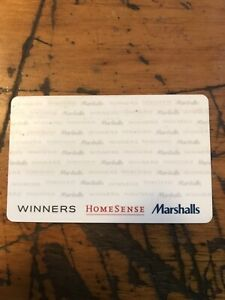 Gift card for winners, marshal or home sense $91.00 for $70.00.