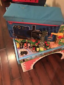 Thomas wooden train lot