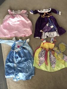 4 princess costumes.