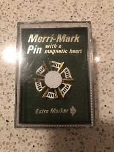 Vintage Merri-Mark Pin With a Magnetic Heart - Golf Marker Pin