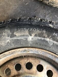 GM tires and rims 14 inch and new front pads,rotors,calibers