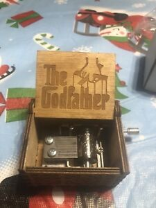 ***THE GOD FATHER HAND WIND MUSIC BOX***