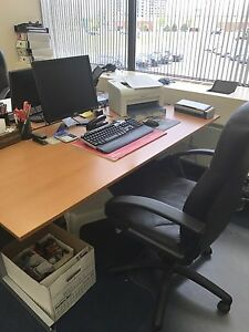 Desk and L shaped desk - great condition