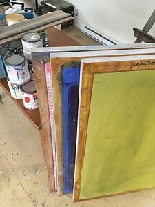 Screen and ink for screenprinting-sérigraphie