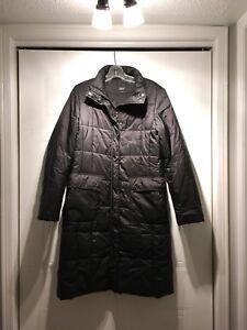 Esprit Long Black Winter Coat (Size 7)