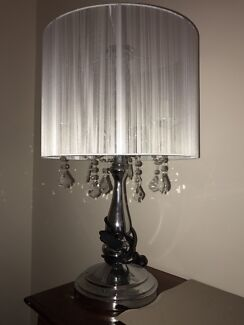 Crystal Chandelier Table Lamp, silver crystal table lights   Table ...