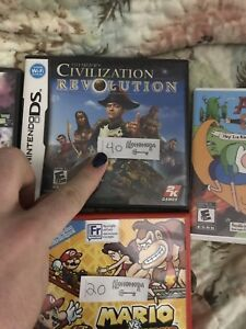Selling ds/3ds games