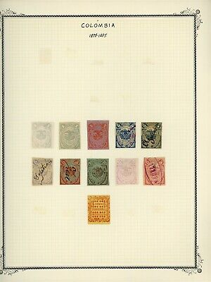 COLOMBIA STATES - ANTIOQUIA Scott Specialty Album Page Lot #1 - SEE SCAN - $$$