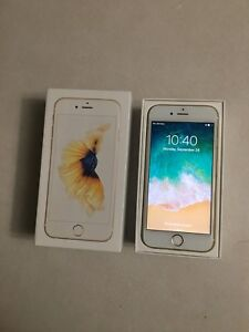 iPhone 6s - 16gb - Unlocked - Gold w/ Otterbox, Charger + Box