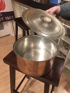 Vintage Antique 100% Copper Solid Pots and Pans
