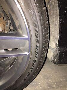 4 pneus d'hiver 255/35/R19 Pirelli Sottozero winter 240 série 2