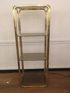 Vintage Brass Shelves